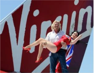Richard Branson celebrates Virgin Atlantic's 25th Anniversary